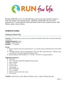 Warm Up Games Activities & Project