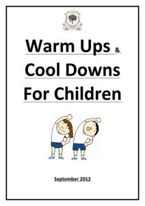 Warm Ups & Cool Downs for Children Activities & Project
