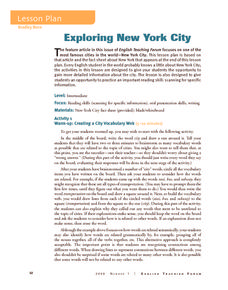 Exploring New York City Activities & Project
