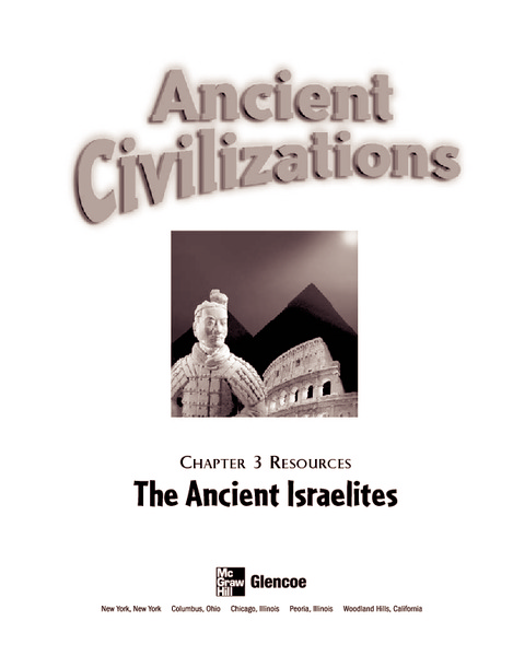 Ancient Civilizations: The Ancient Israelites Graphic Organizer
