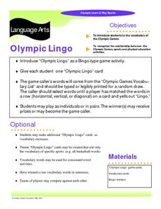 Olympic Lingo Learning Game