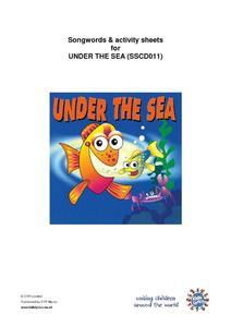 Songwords & Activity Sheets for Under the Sea Worksheet