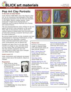 Pop Art Clay Portraits Activities & Project