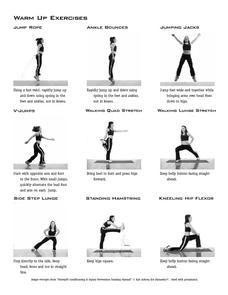 Warm Up Exercises 4th - 12th Grade Worksheet   Lesson Planet