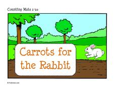 Carrots for the Rabbit Play Dough Mats Printables & Template