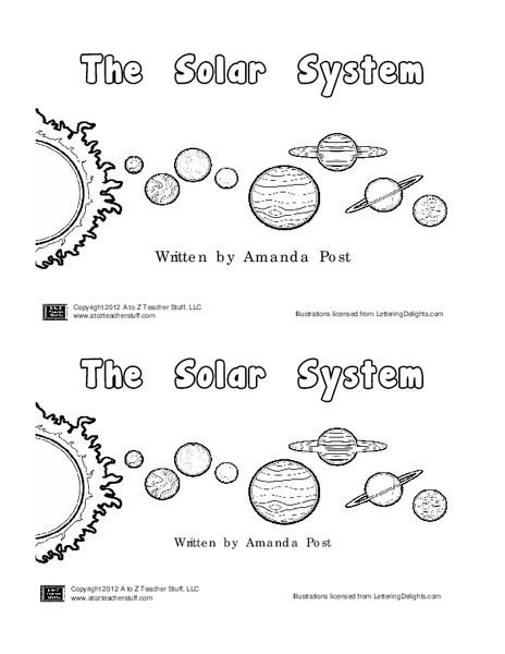 Solar System Book Printables & Template