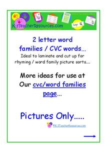 CVC Pictures Printables & Template