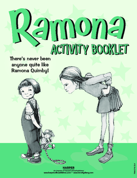 Ramona Activity Booklet reading comprehension Activities & Project