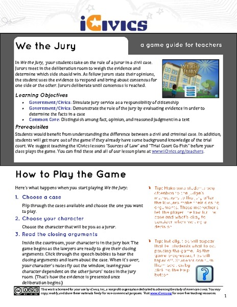 We the Jury Activities & Project