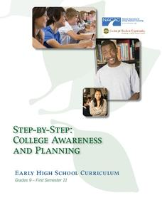 Step-by-Step: College Awareness and Planning Activities & Project