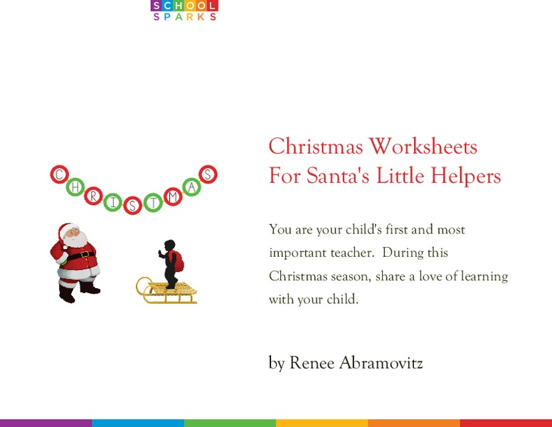 Christmas Worksheets for Santa's Little Helpers Workbook for ...