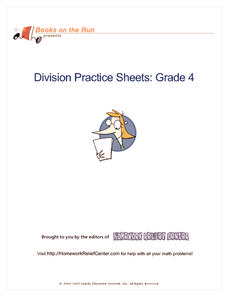 Division Practice Sheets: Grade 4 Handouts & Reference