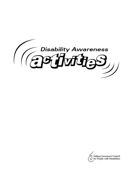 Disability Awareness Activities Activities & Project for