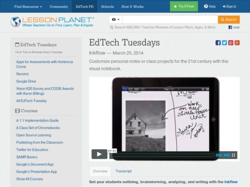EdTech Tuesdays: Inkflow Video