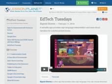 EdTech Tuesdays: Signed Stories Video