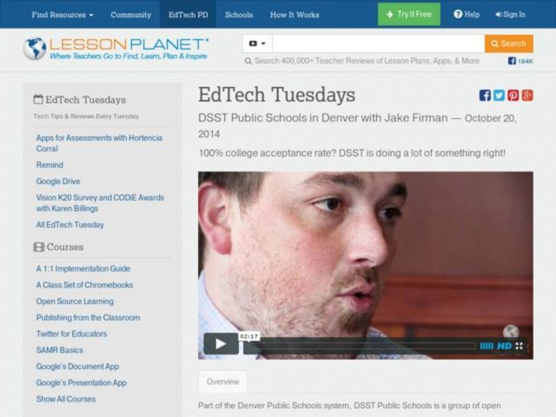 EdTech Tuesdays: DSST Public Schools in Denver with Jake Firman Video