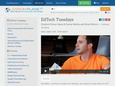 EdTech Tuesdays: Student-Driven Apps & Social Media with Brad Wilson Video