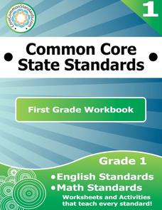 Common Core 1st Grade Workbook Printables & Template