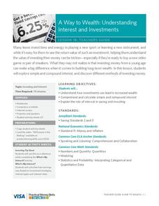A Way to Wealth: Understanding Interest and Investments Lesson Plan