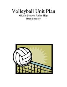 Volleyball Unit Plan Activities & Project