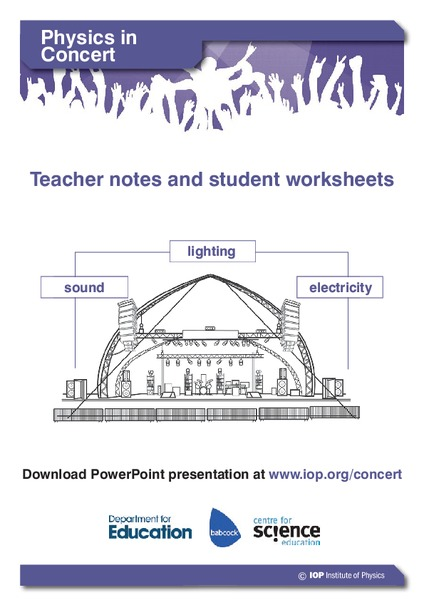 Physics in Concert Activities & Project