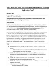 Orphan of Ellis Island Lesson Plans & Worksheets Reviewed by Teachers