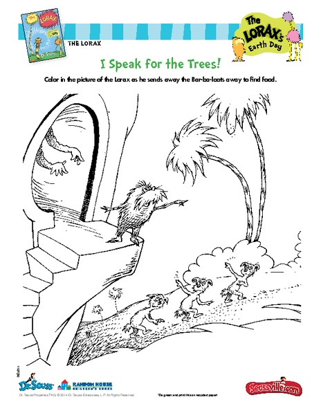 I Speak for the Trees! Printables & Template