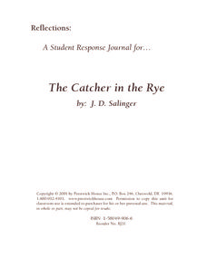 A Student Response Journal For The Catcher In The Rye Writing Prompt