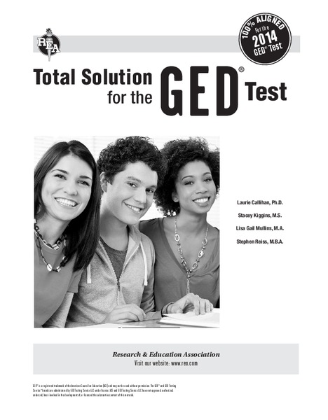 Total Solution for the GED Test Worksheet