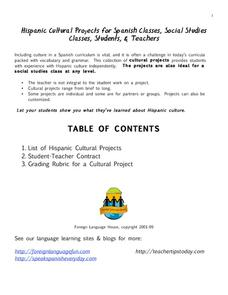 Hispanic Cultural Projects Activities & Project