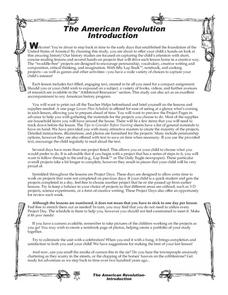 The American Revolution Introduction Worksheet