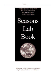 Seasons Lab Book Worksheet