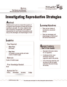 Investigating Reproductive Strategies Lesson Plan
