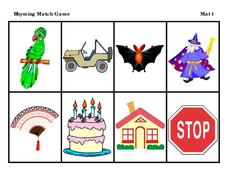 Rhyming Match Game Learning Game
