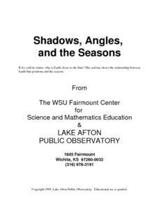 Shadows, Angles, and the Seasons Activities & Project
