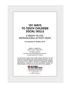 101 Ways to Teach Children Social Skills Workbook