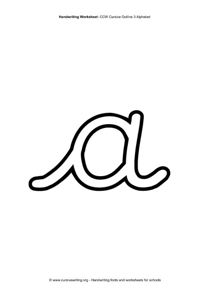 Cursive Outline Alphabet Printables & Template