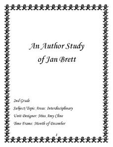 An Author Study of Jan Brett Unit