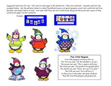 Five Little Penguins Printables & Template