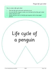 Life Cycle of a Penguin Activities & Project