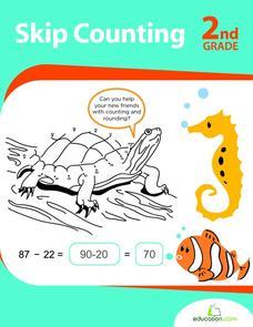 skip counting 2nd grade worksheet for 1st 3rd grade lesson planet. Black Bedroom Furniture Sets. Home Design Ideas