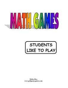 Math Games Students Like to Play Activities & Project