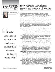 Snow Activities Let Children Explore the Wonders of Weather Activities & Project