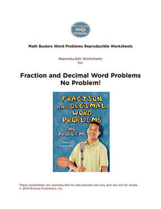 Fraction and Decimal Word Problems No Problem! Handouts & Reference