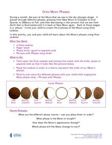 Oreo Moon Phases Activities & Project