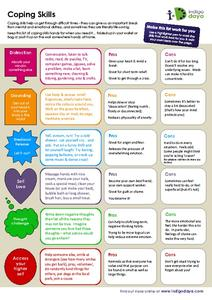 Coping Skills Handouts & Reference for 5th - 12th Grade | Lesson Planet