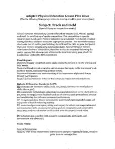 Adapted Physical Education: Track and Field Lesson Plan