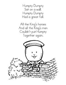 Nursery Rhyme Posters Printables & Template