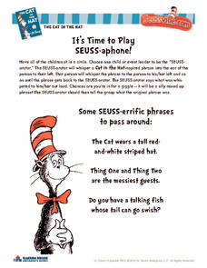 It's Time to Play Seuss-Aphone! Activities & Project