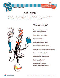 Cat Tricks! Activities & Project